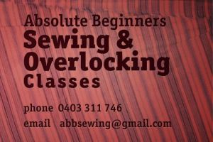 Absolute Beginners Sewing and Overlocking Classes - Sydney Private Schools